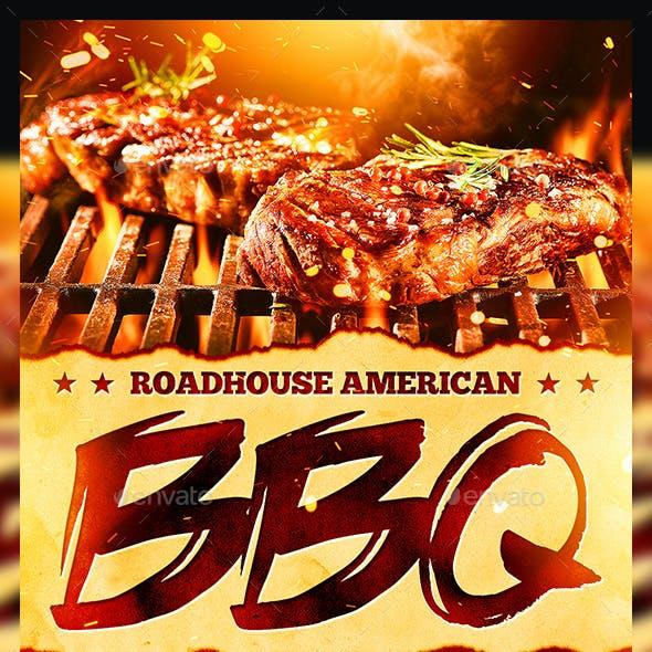 BBQ Steakhouse Flyer