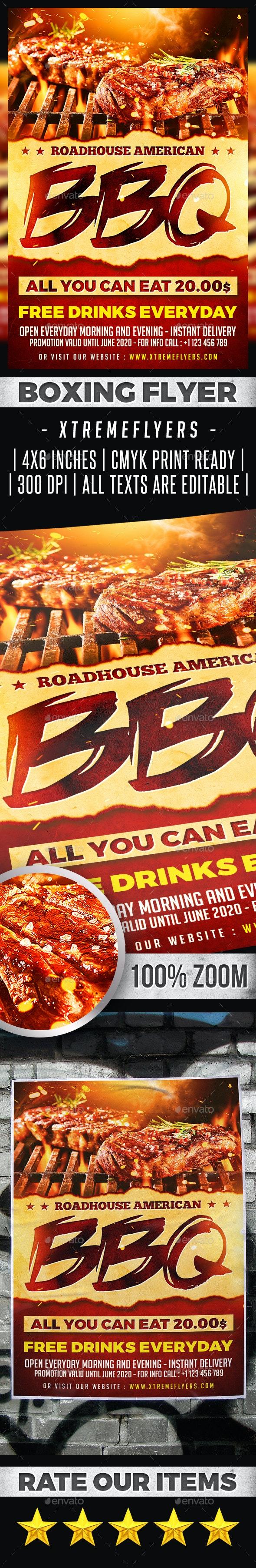 BBQ Steakhouse Flyer - Restaurant Flyers