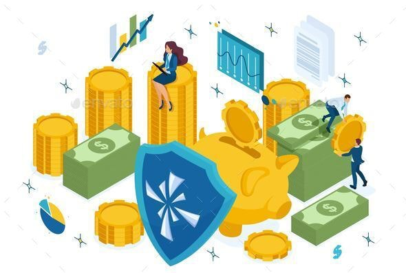 Isometric Reliable Protection of Your Money - Concepts Business