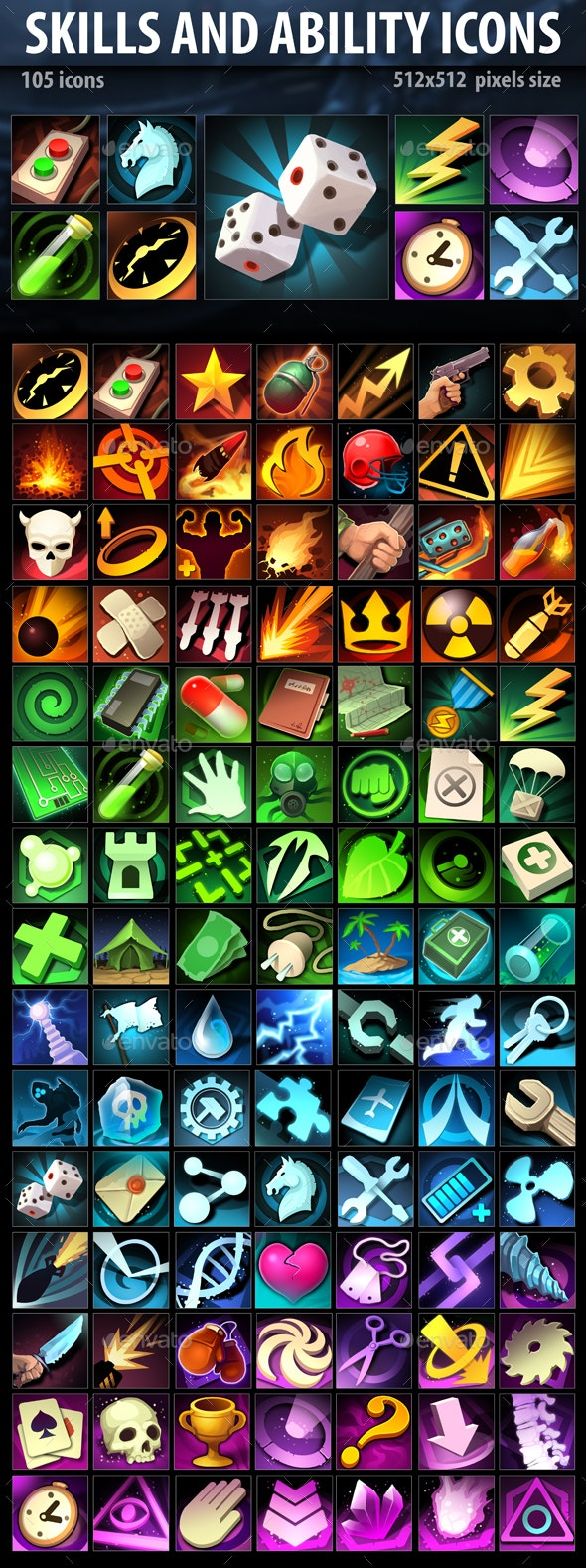 Skills and Ability Icons - Miscellaneous Game Assets