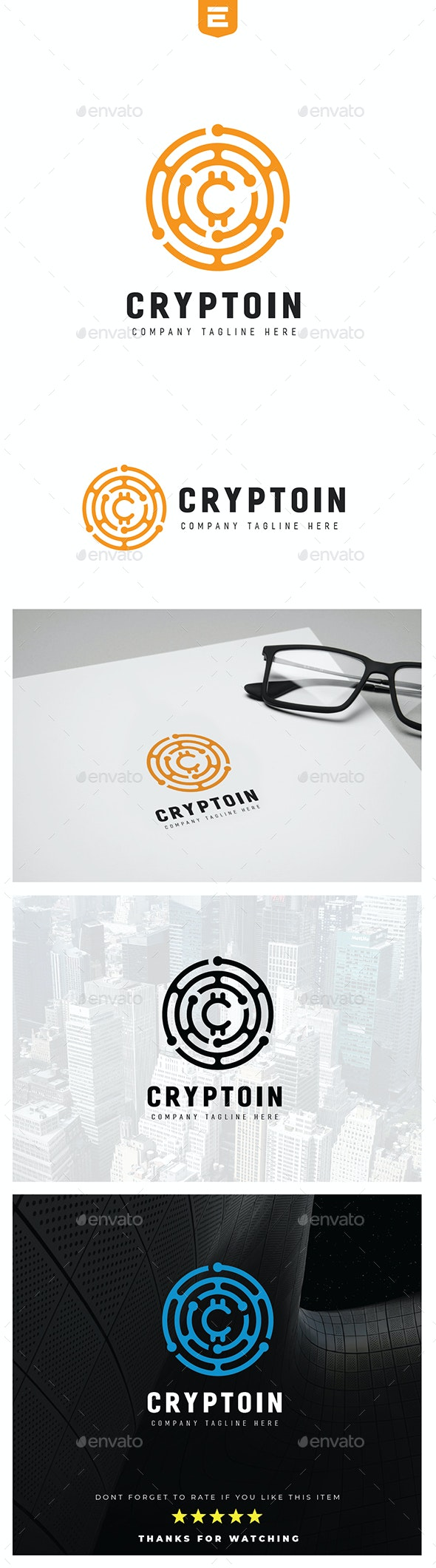 Crypto Currency Logo - Abstract Logo Templates