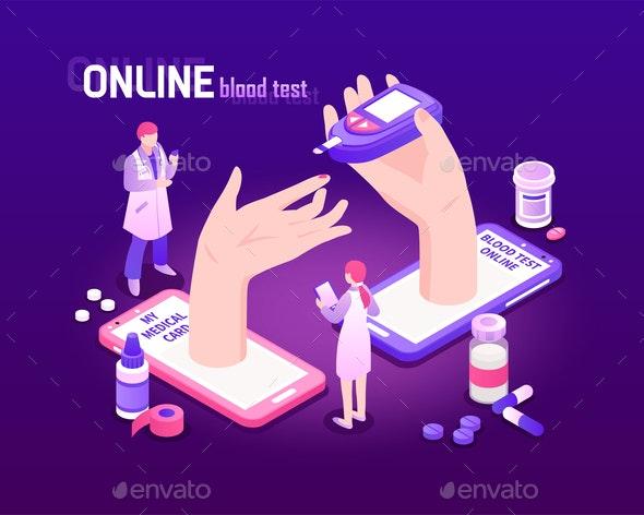 Telemedicine Isometric Background - Health/Medicine Conceptual