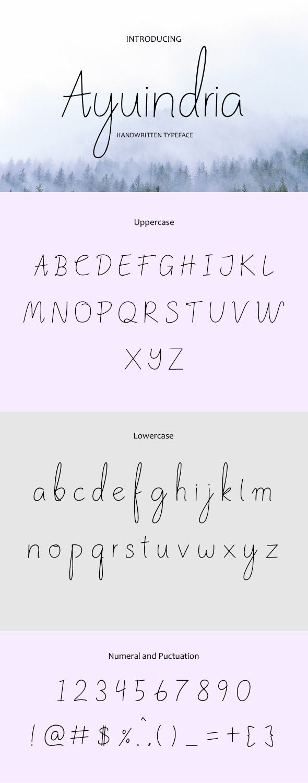 Ayuindria Handwritten typeface - Script Fonts