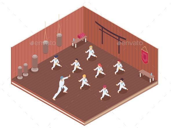 Gym Isometric Illustration - Sports/Activity Conceptual
