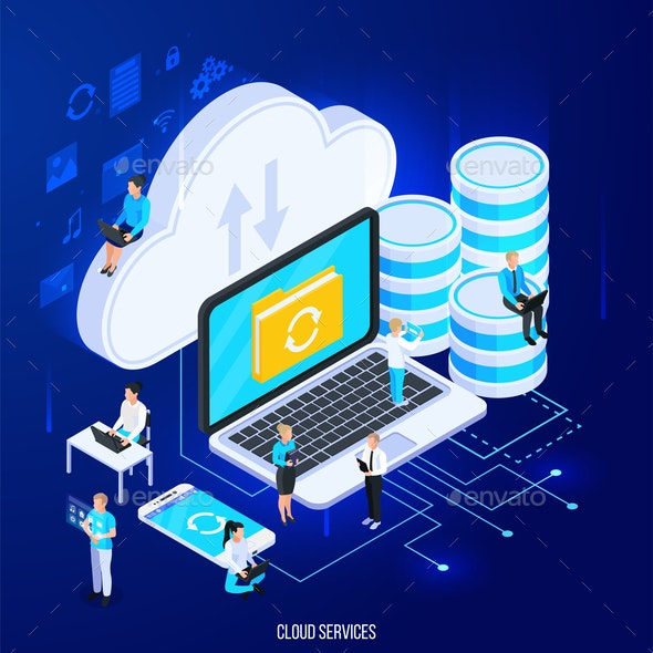 Cloud Services Conceptual Composition - Computers Technology