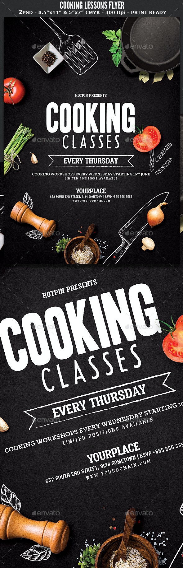 Cooking Lessons Flyer - Events Flyers