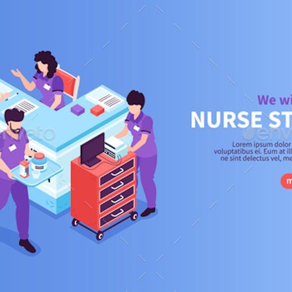 Nurse Station Hospital Banner