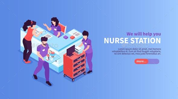 Nurse Station Hospital Banner - Health/Medicine Conceptual