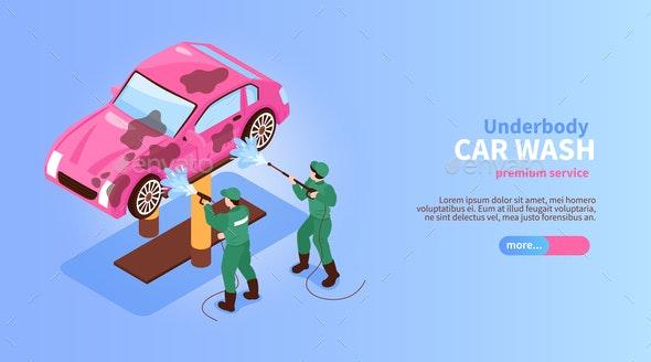 Underbody Car Wash Banner - Industries Business