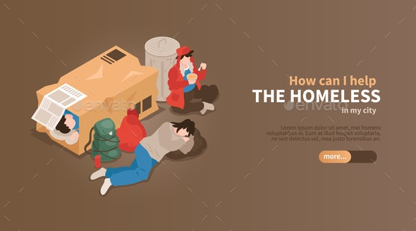 Help The Homeless Banner - Miscellaneous Conceptual
