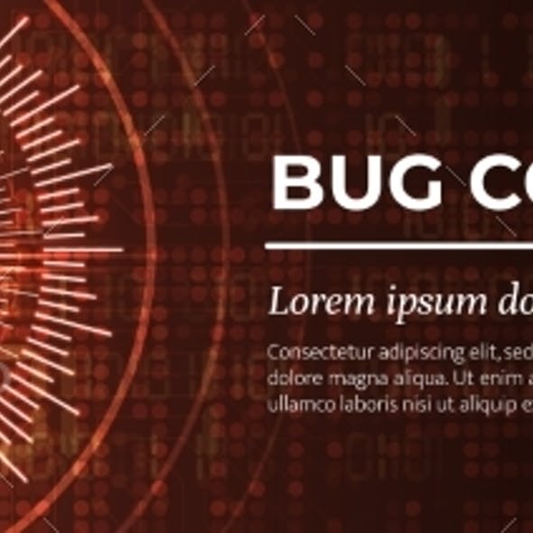 Bug Code Red Digital Background