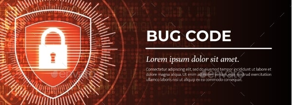Bug Code Red Digital Background - Computers Technology