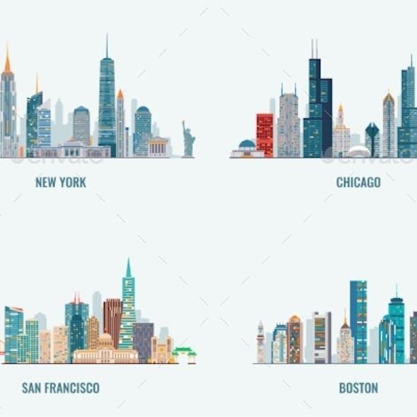 USA Cities Skylines Set