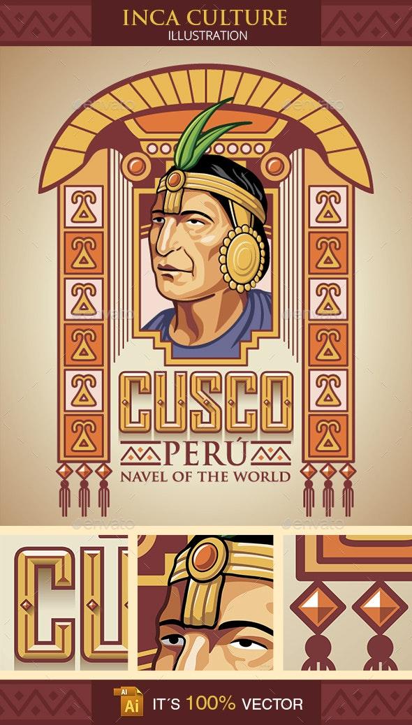 Inca Culture Design Illustration - Characters Vectors
