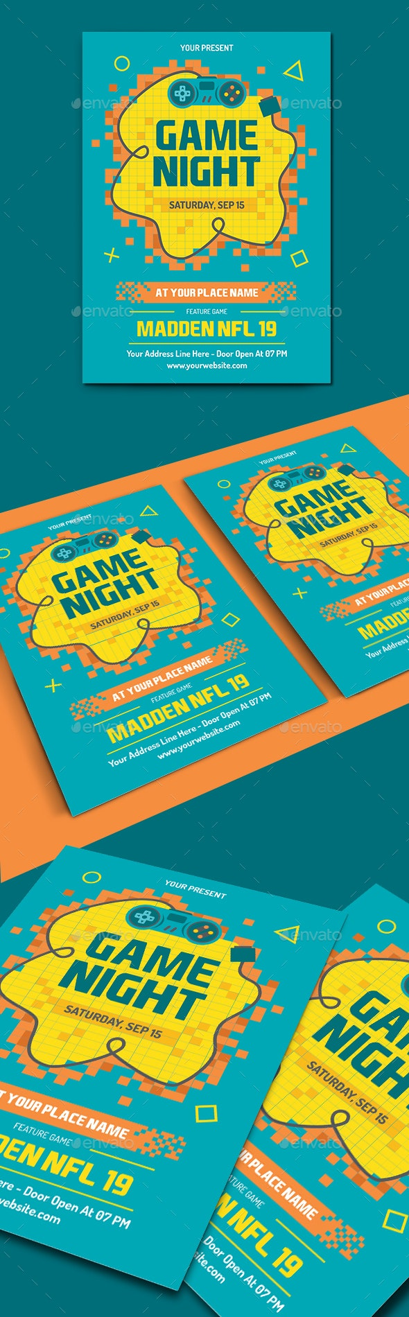 Video Game Night Flyer Template - Events Flyers