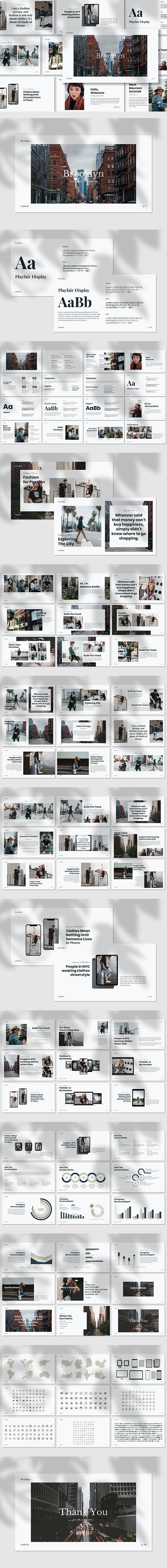 Brooklyn - Lookbook Keynote Template - Creative Keynote Templates