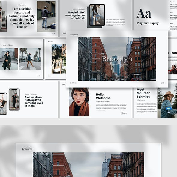 Brooklyn - Lookbook Keynote Template