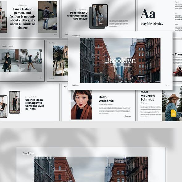 Brooklyn - Lookbook Google Slides Template
