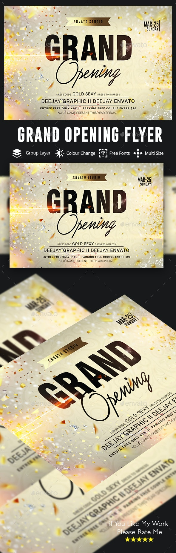 Grand Opening Flyer - Events Flyers