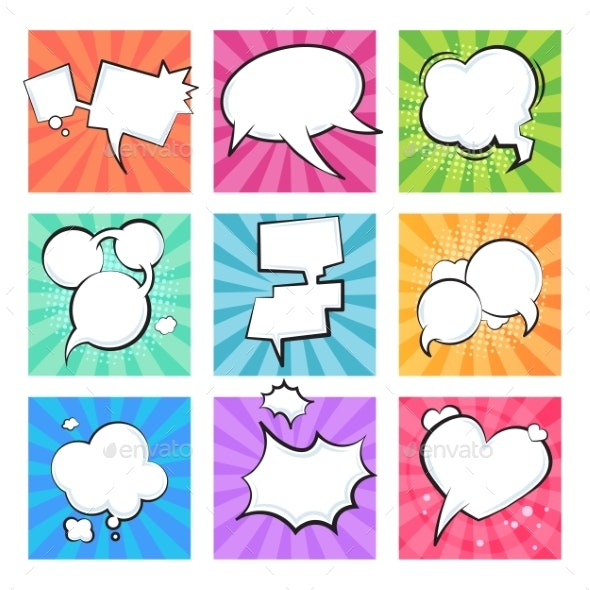Cartoon Comic Bubbles - Miscellaneous Vectors