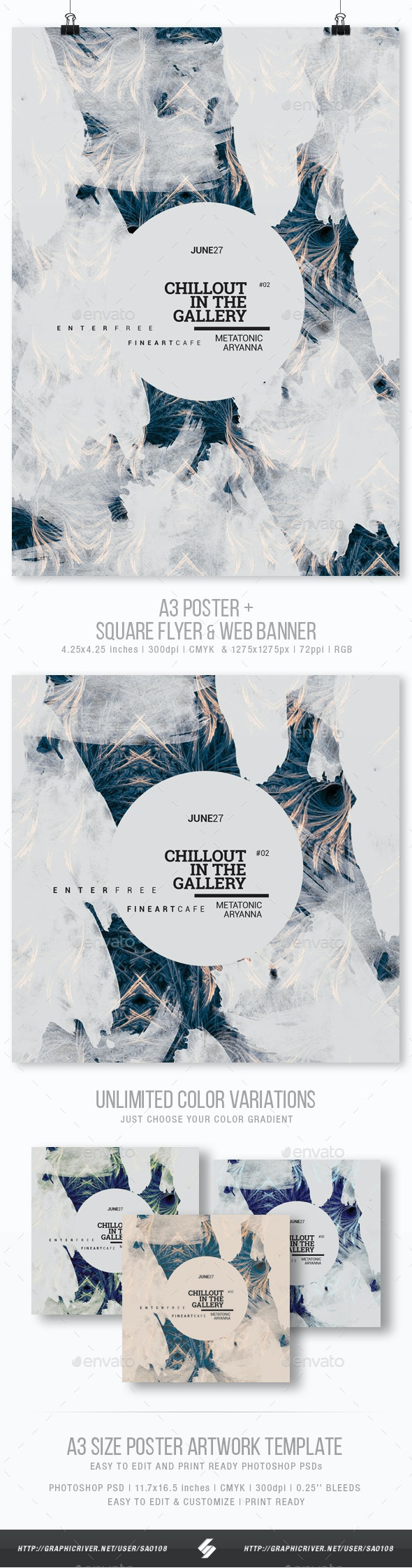 Chillout In The Gallery vol.2 - Event Flyer / Poster Template A3 - Events Flyers