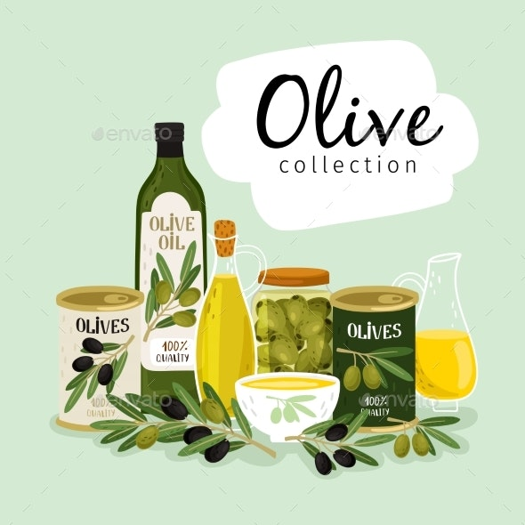 Olives and Olive Oils - Food Objects