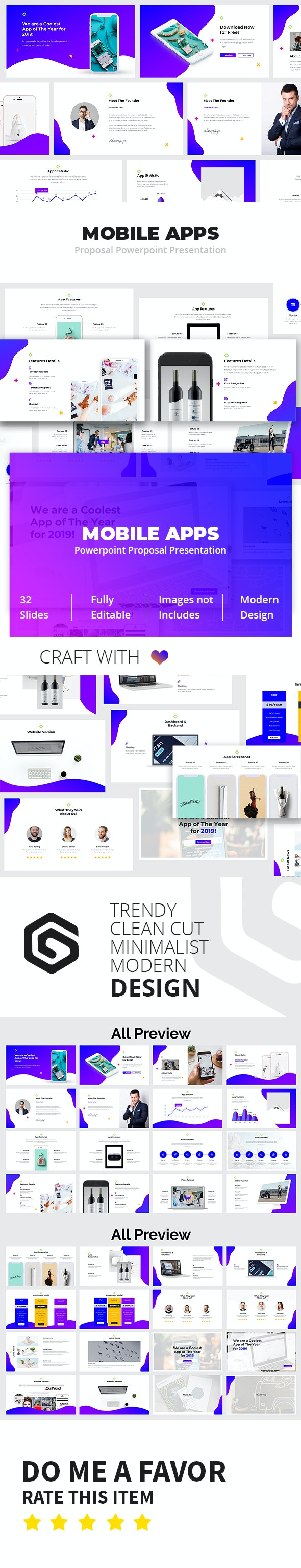 Mobile App Powerpoint Proposal Presentation Template - Pitch Deck PowerPoint Templates