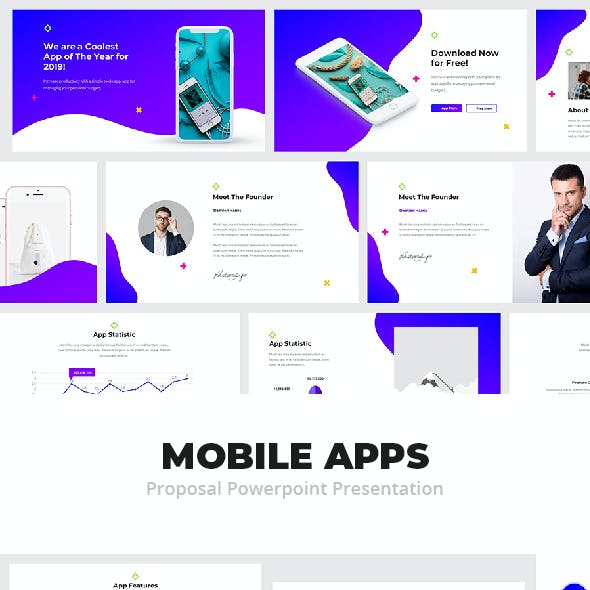 Mobile App Powerpoint Proposal Presentation Template