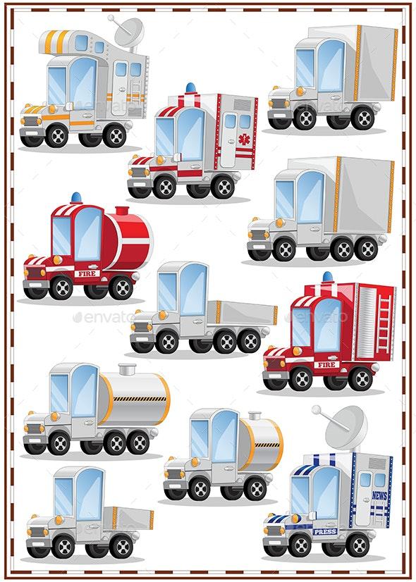 A Set of Trucks - Miscellaneous Vectors