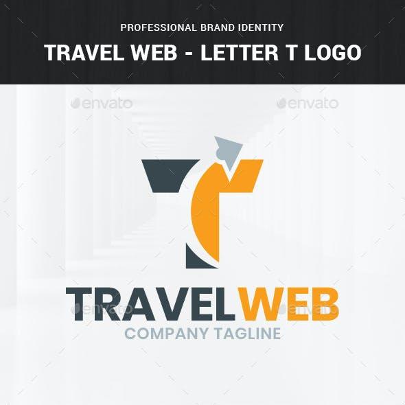 Travel Web - Letter T Logo Template