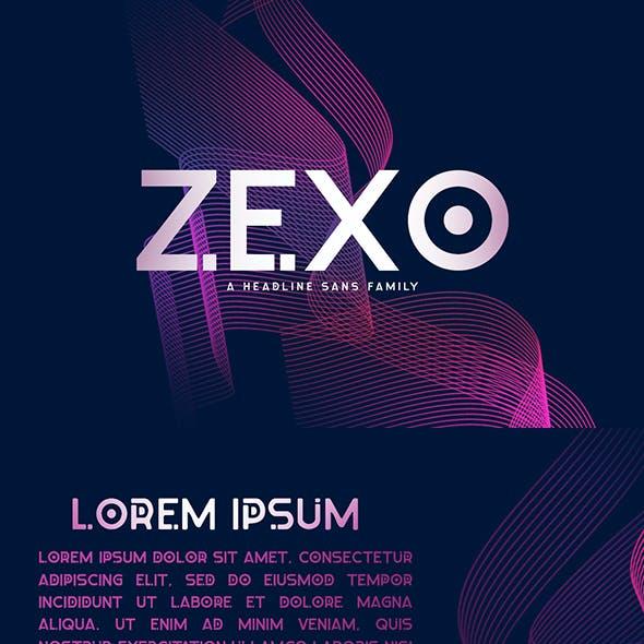Zexo Sans 4 Family