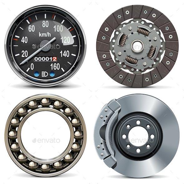 Vector Round Car Parts