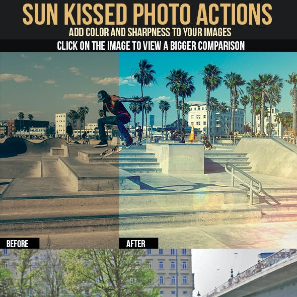 Sun Kissed Photo Actions