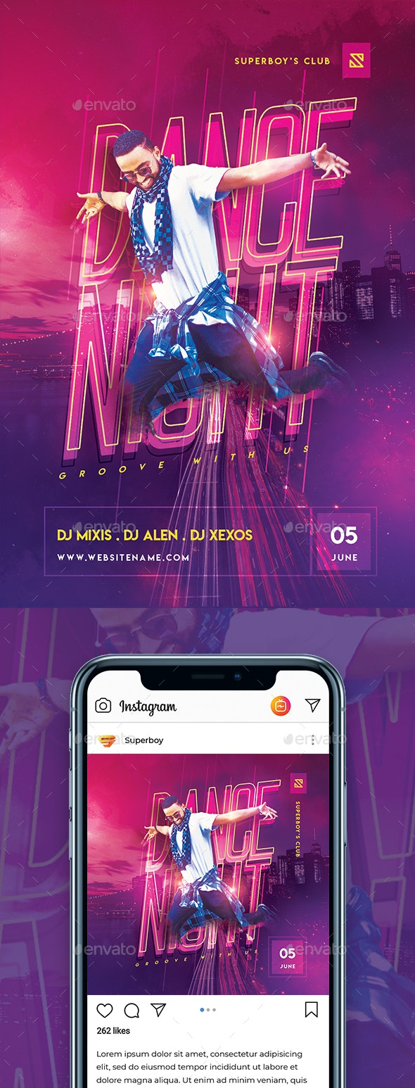 Dance Night Party Flyer - Clubs & Parties Events
