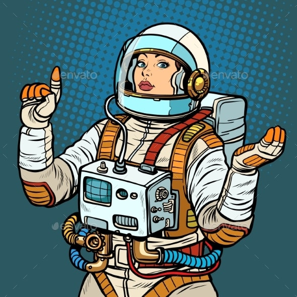 Woman Astronaut Space Exploration - People Characters