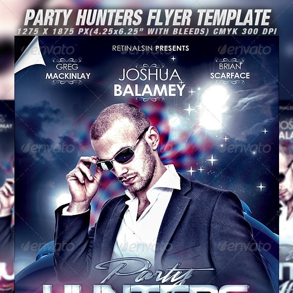 Party Hunters Flyer Template