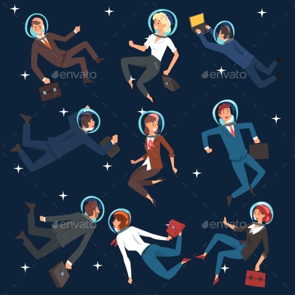 Successful Business People in Astronaut Suits - Concepts Business