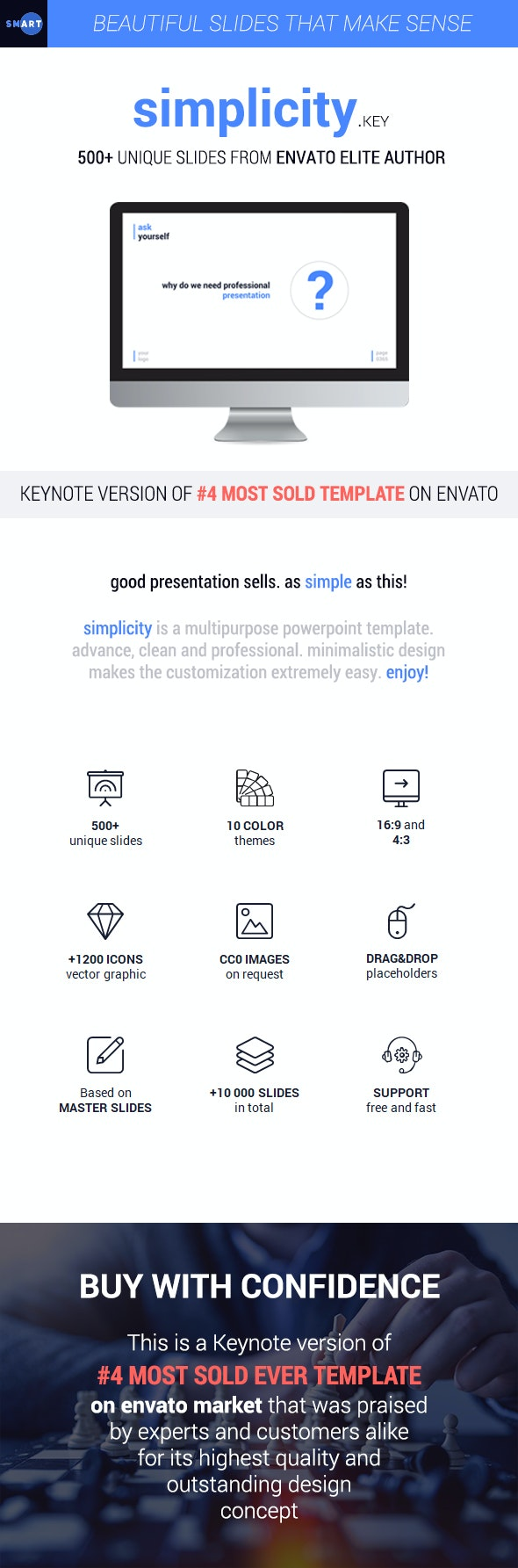 Simplicity 2019 – Premium and Easy to Edit Keynote Template - Business Keynote Templates