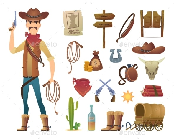 Wild West Cartoon - People Characters
