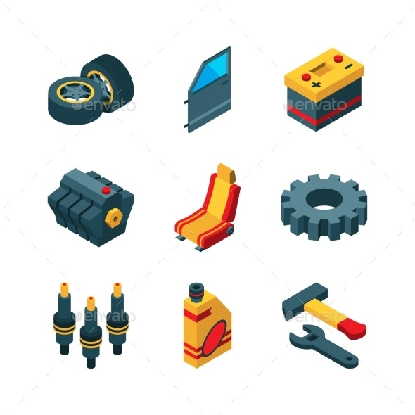 Car Parts - Man-made Objects Objects