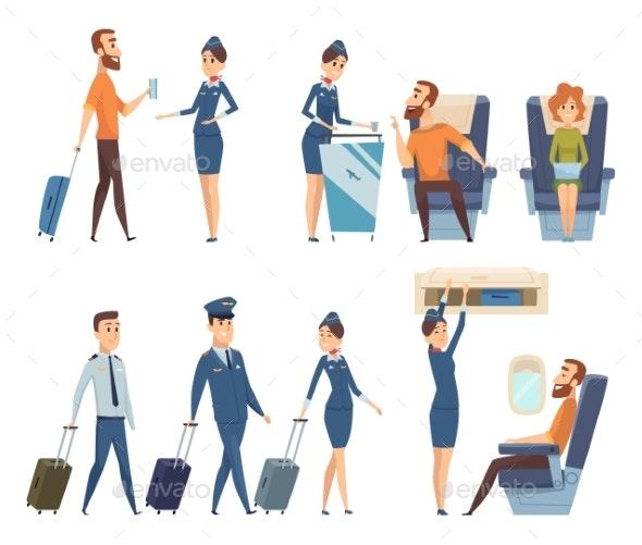 Airplane Passengers - People Characters