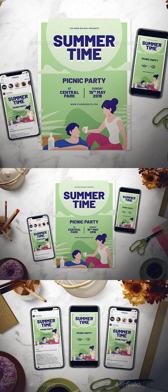 Summer Picnic Flyer Set - Events Flyers