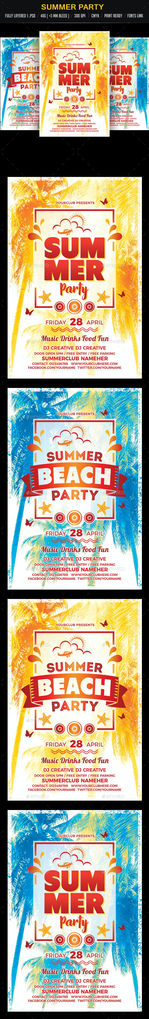 Summer Party / Beach Party - Clubs & Parties Events