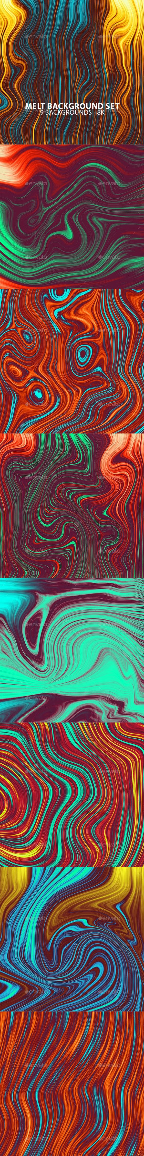Melt Background Set - Abstract Backgrounds