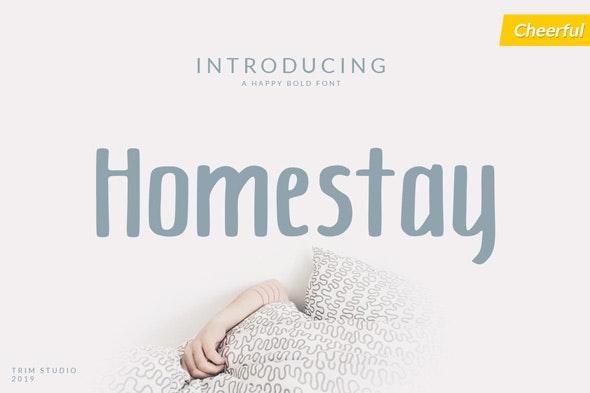 Homestay - Decorative Fonts