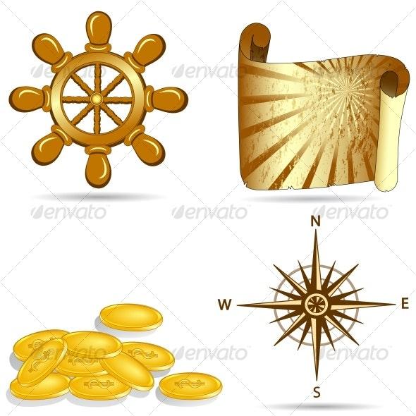 set of nautical icons - Travel Conceptual