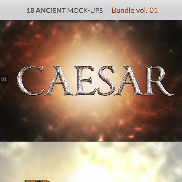 18 Ancient Mock-Ups - Bundle vol. 01