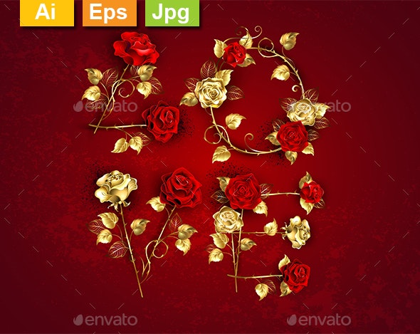 Love from Jewelry Red Roses - Valentines Seasons/Holidays
