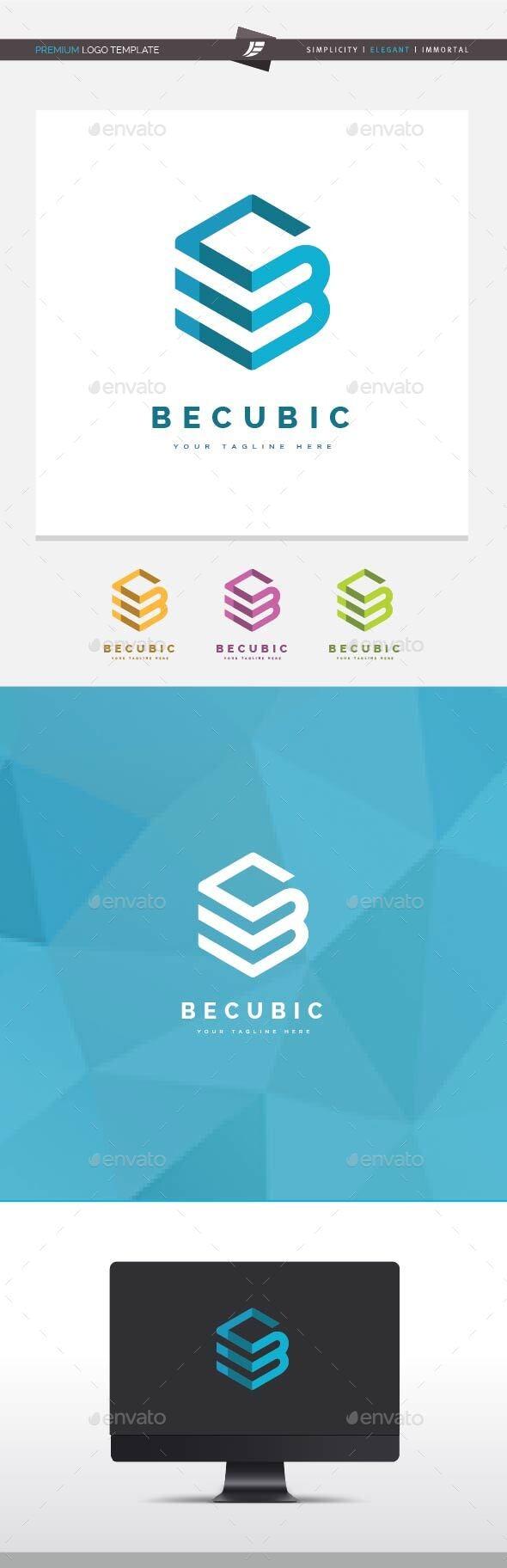 Letter B Cubic Logo - Letters Logo Templates