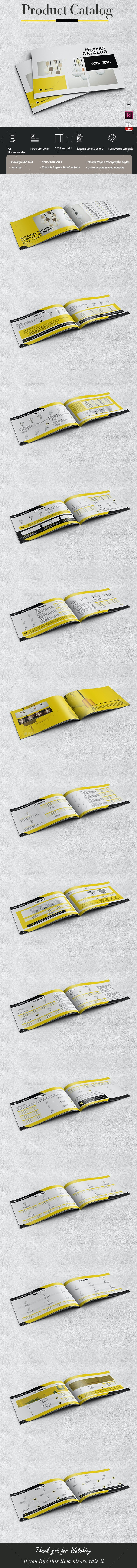 Stylish Industrial Products Catalog Horizontal - Catalogs Brochures
